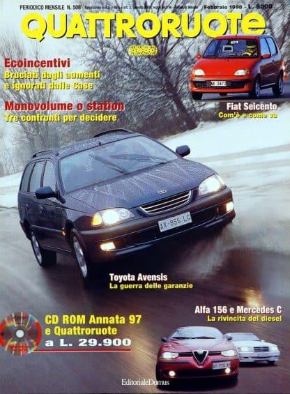 Quattroruote N. 0508 febbraio 1998-0