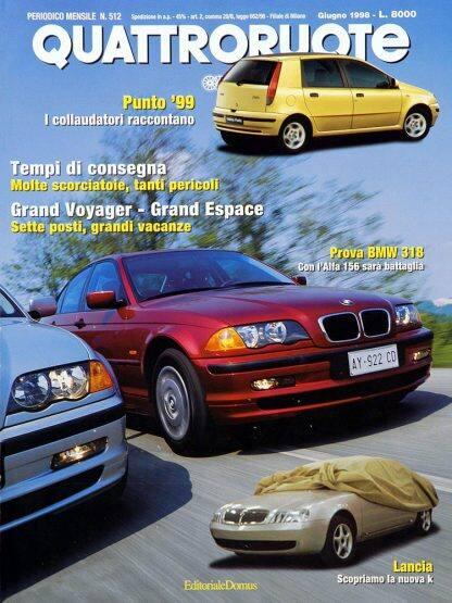 Quattroruote N. 0512 giugno 1998-0