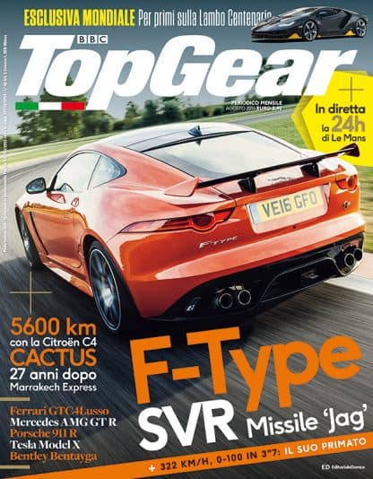 TOP GEAR N. 0105 AGOSTO 2016-0
