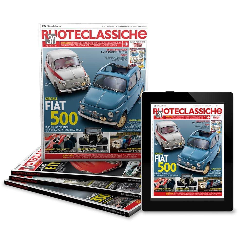 Abbonamento a Ruoteclassiche (1 anno), Offerte riservate ai soci Club Auto e Moto d'Epoca Perugino